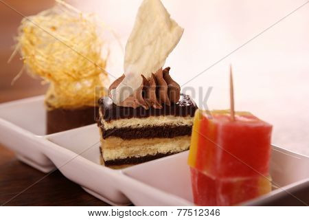 Three Gourmet Desserts