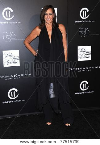 LOS ANGELES - OCT 08:  Donna Karan arrives to the 5th Annual PSLA Autumn Party  on October 8, 2014 in Culver City, CA