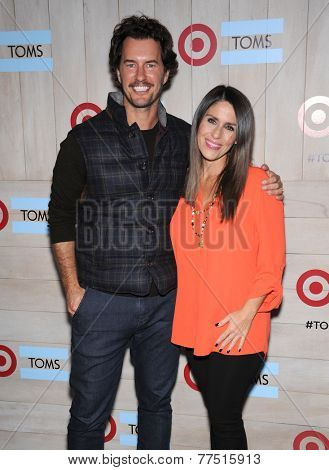 LOS ANGELES - NOV 12:  Blake Mycoskie & Soleil Moon Frye arrives to the TOMS for Target Partnership Celebration on November 12, 2014 in Culver City, CA