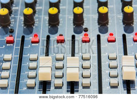 Audio Mixer (shallow depth on field)