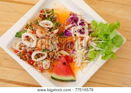 Lemongrass Salad With Seafood