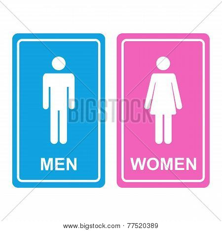 Male and female restroom icon