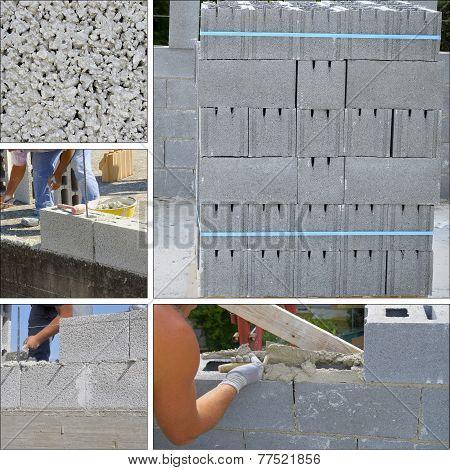 Collage concrete brick