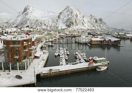 Svolvaer harbor on March 26, 2011 in Svolvaer, Norway.