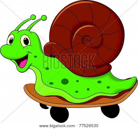 Cute cartoon snail