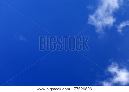 Beautiful Blue Sky With Clouds At Nice Day