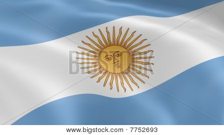 Argentina Flag In The Wind