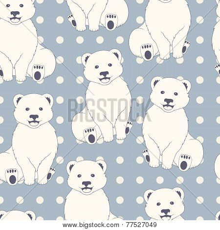 Polar Bears Seamless Pattern