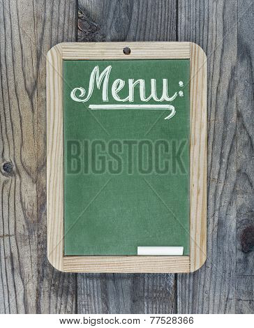Chalkboard Green Menu