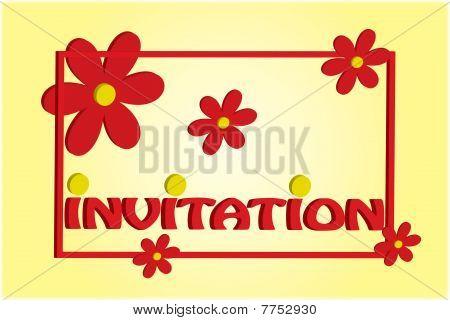 3D Flower Invitation Illustration