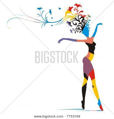 Carnival Woman Silhouette