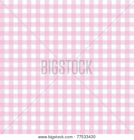 Checkered Tablecloths Pattern - Endless - Pink