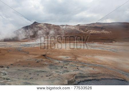 Iceland, Namafjall Geothermal Area