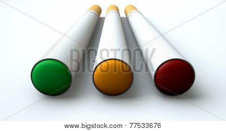 Electronic Cigarette Traffic Light Concept