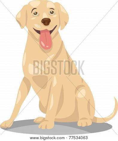 Labrador Retriever Dog Cartoon