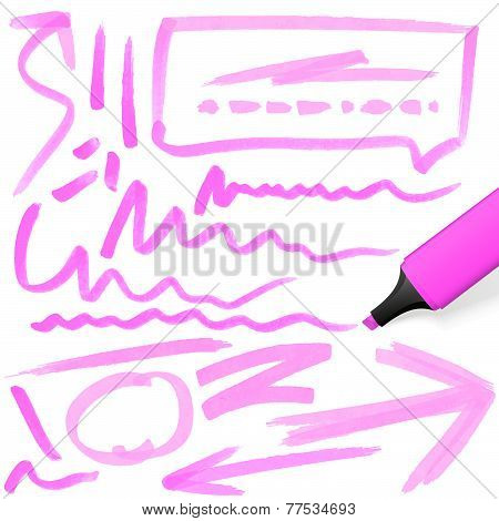 Colored Highlighter With Markings