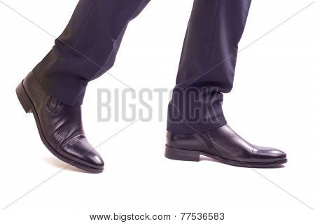 Businessman Walking Legs