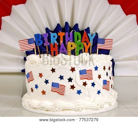 July 4th Birthday Cake