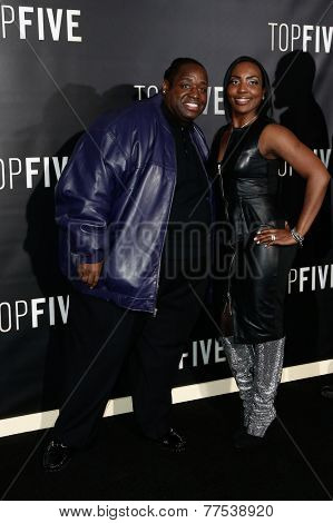 NEW YORK-DEC 3: Comedian Bruce Bruce (L) and guest attend the
