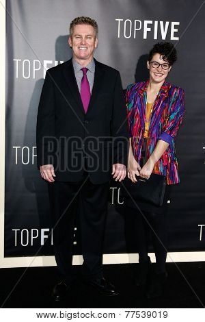 NEW YORK-DEC 3: Comedian Brian Regan (L) and wife Kathleen Regan attend the