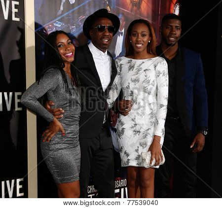NEW YORK-DEC 3: (L-R) Shahidah Omar, Comedian/actor J.B. Smoove, daughter and boyfriend attend the