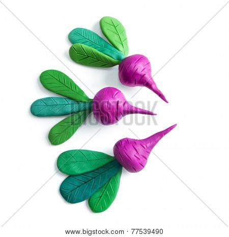 Beets. Plasticine illustrations.