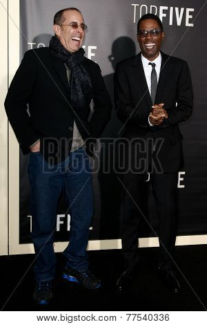 NEW YORK-DEC 3: Comedian/actors Jerry Seinfeld (L) and Chris Rock attend the