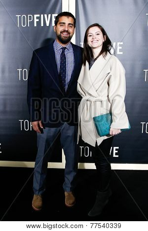 NEW YORK-DEC 3: Producer Tony Hernandez (L) and guest attend the