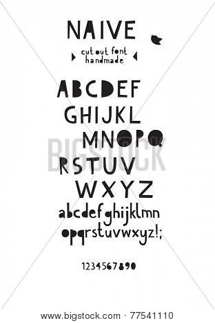 Paper cut out font