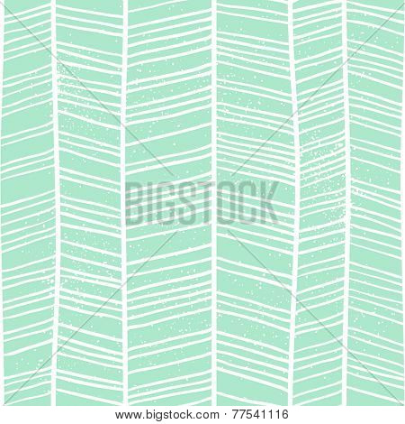 Herringbone hand-drawn seamless pattern