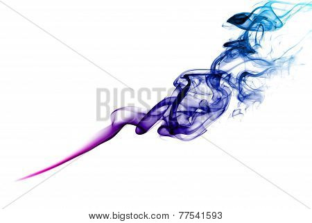 Purple smoke.