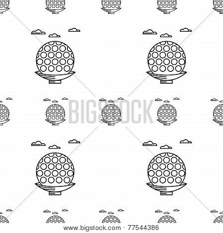 Vector background for golf. Ball on tee