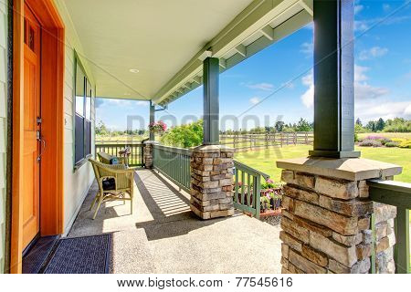 House Walkout Deck With Sitting Area