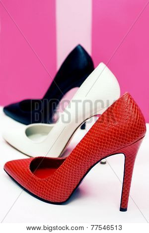 Elegant high heels shoes