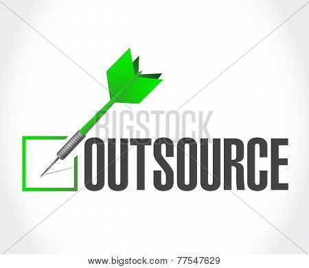 Outsource Dart Checkmark Illustration