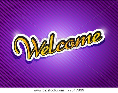 Purple Welcome Card