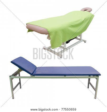 massage bed under the white background