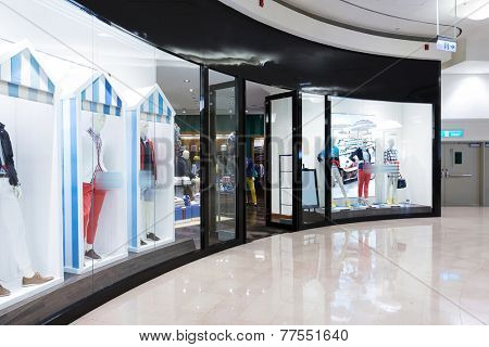 modern fashion shopfront view