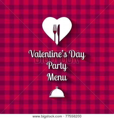 Valentines Day Dinner Menu card