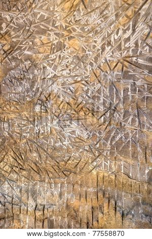 Abstract pattern in stone