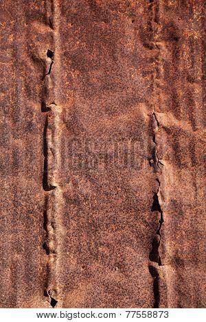 Old broken metal surface