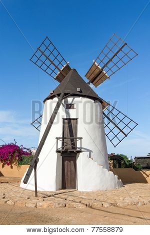 Windmill in Antigua on Fuerteventura