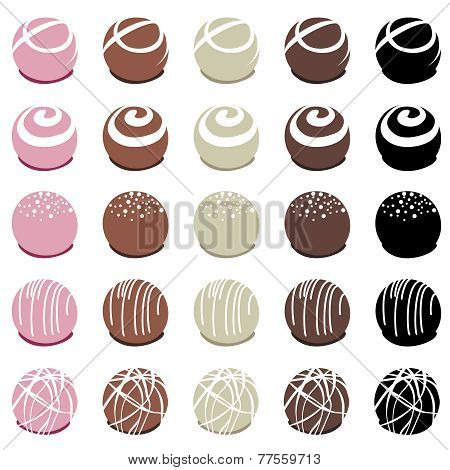 Vector Collection Of Chocolate Candies For Dessert