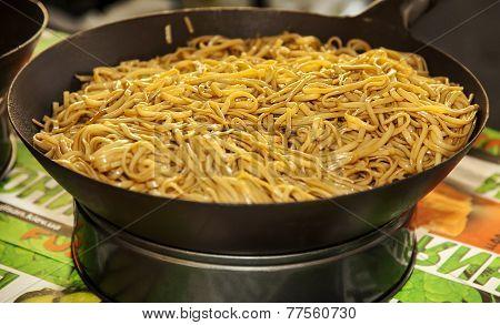 Asian Noodles In Wok