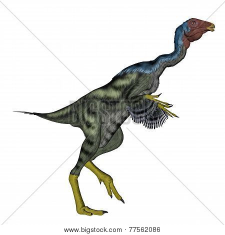 Caudipteryx dinosauwalking - 3D render