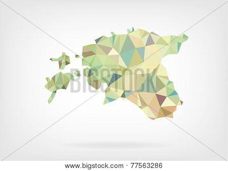 Low Poly Map of Estonia
