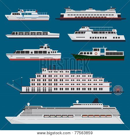 Passenger Ships Infographic