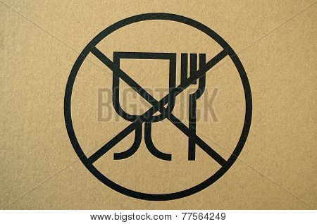 Unsafe materials for food contact warning sign