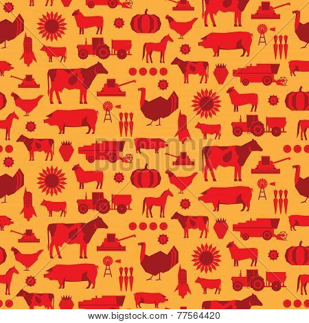Seamless Farm Vector Pattern