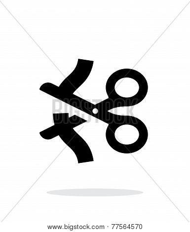 Ribbon icon on white background.